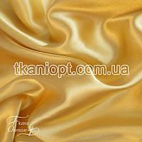 Ткань Атлас обычный плотный светло-золотой