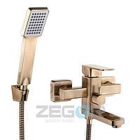 Смеситель для ванны Zegor Z65-LEB3-A123-T, бронза