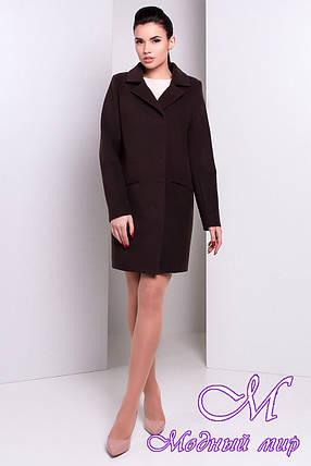 Женское коричневое кашемировое пальто (р. S, M, L) арт. Ками 13715, фото 2
