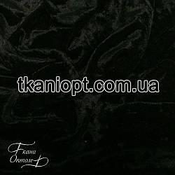 Ткань Бархат мрамор (черный)