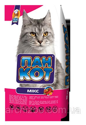 Пан Кот МИКС 10кг Сухой корм для взрослых кошек, фото 2