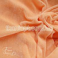 Ткань Велюр стрейч (персиковый)