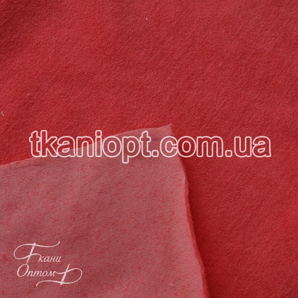 f836711fa42cd4d Ткань Велюр хб (ярко коралловый) представлен в магазине Ткани Оптом