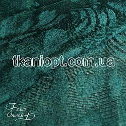 Ткань Велюр шторка (морская волна)