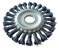 Щётка дисковая Werk 125 мм, М22,2 плетённая проволока