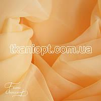 Ткань Вуаль - шифон (абрикосовый )