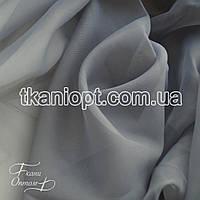 Ткань Вуаль - шифон (серый)