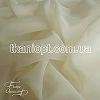 Ткань вуаль шифон молоко (УЦЕНКА)