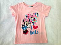 Очень красивая футболка для девочки с модным принтом от DISNEY