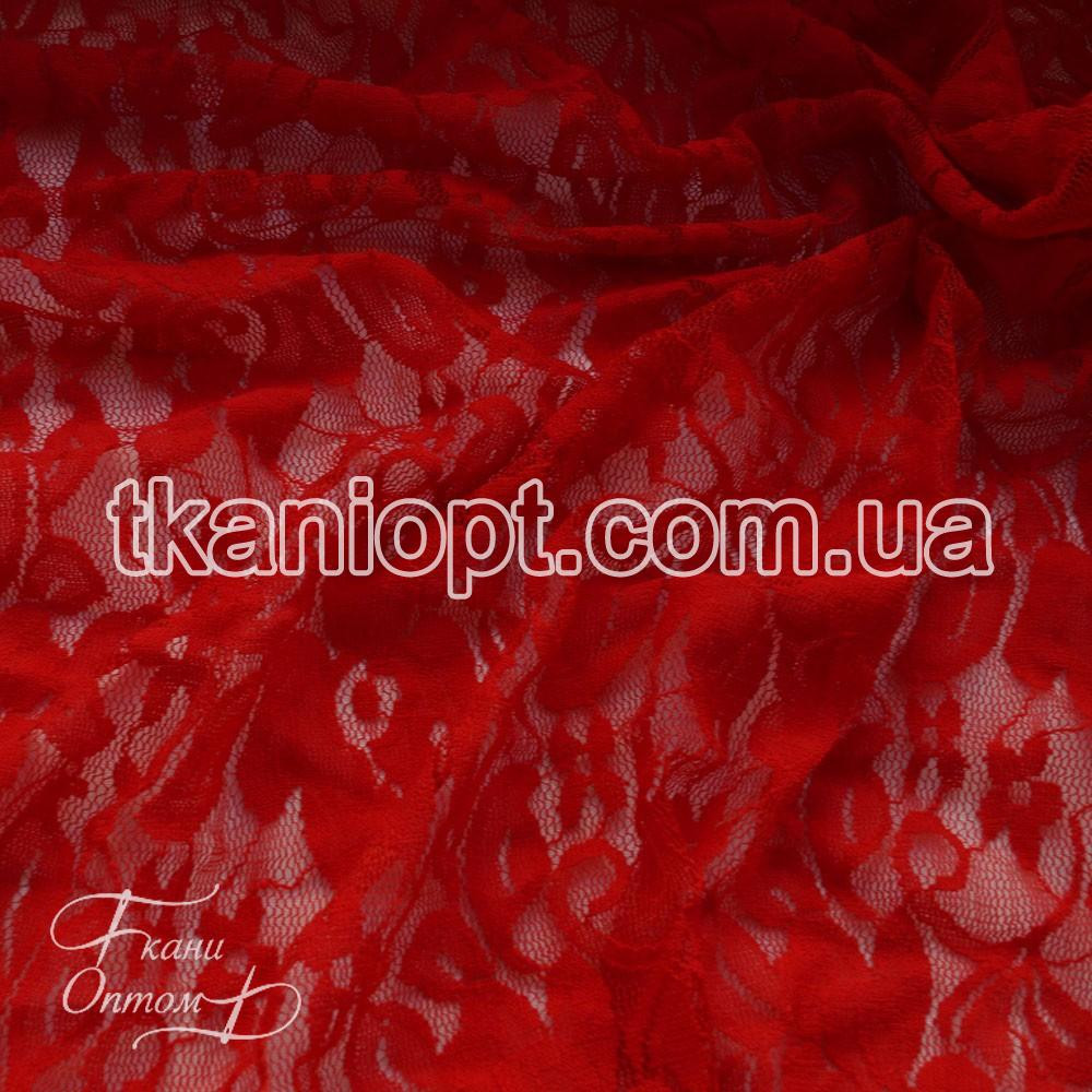 Ткань Гипюр (красный) представлен в магазине Ткани Оптом 8ea3909c4e5