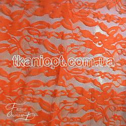 Ткань Гипюр (оранжевый неон)