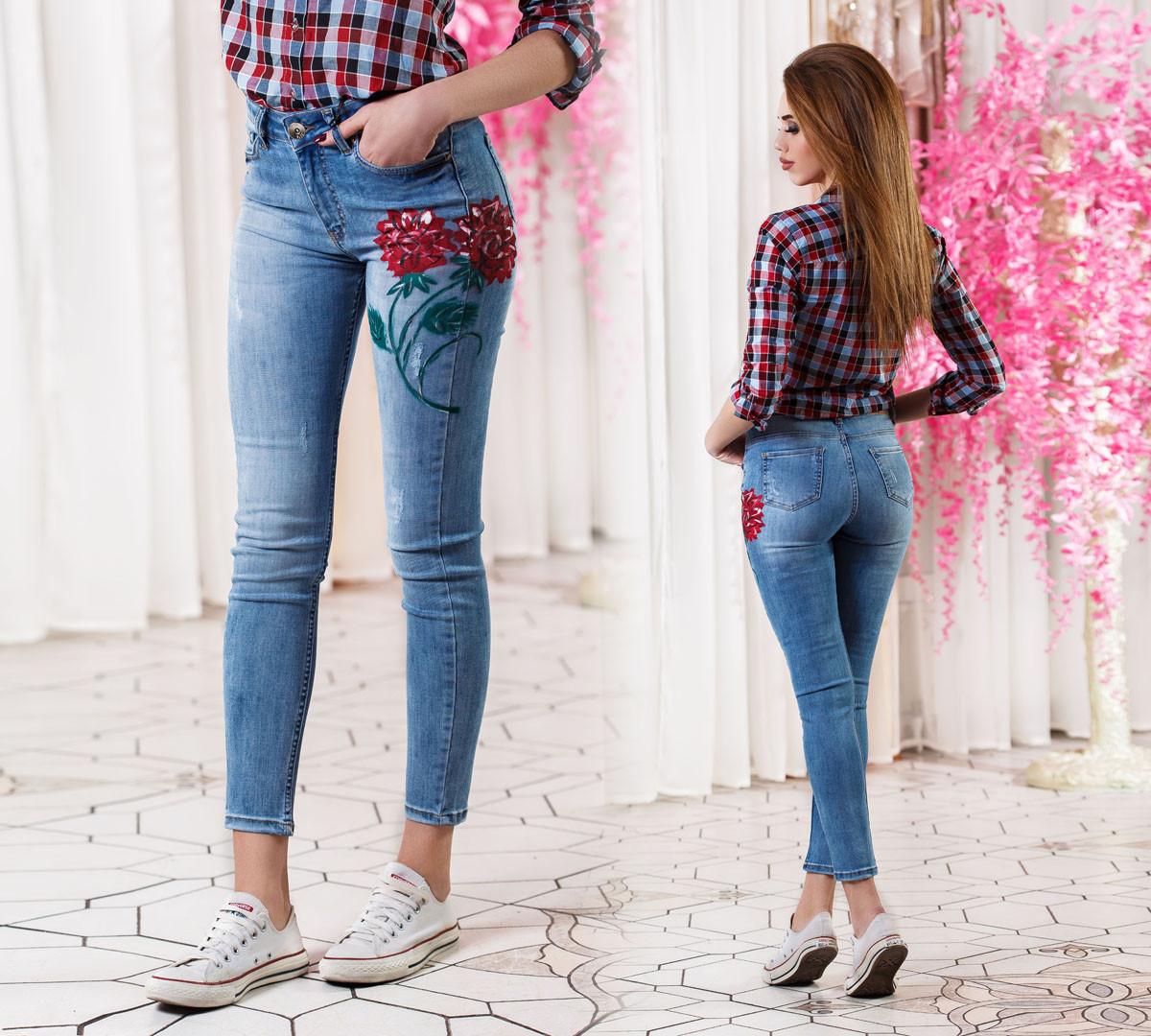 ДТ0620 Стильные облегающие джинсы