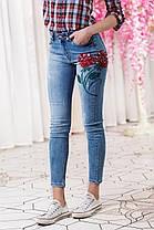 ДТ0620 Стильные облегающие джинсы , фото 3