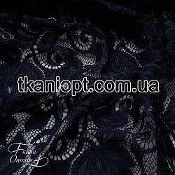 Ткань Гипюр Венеция (темно-синий)