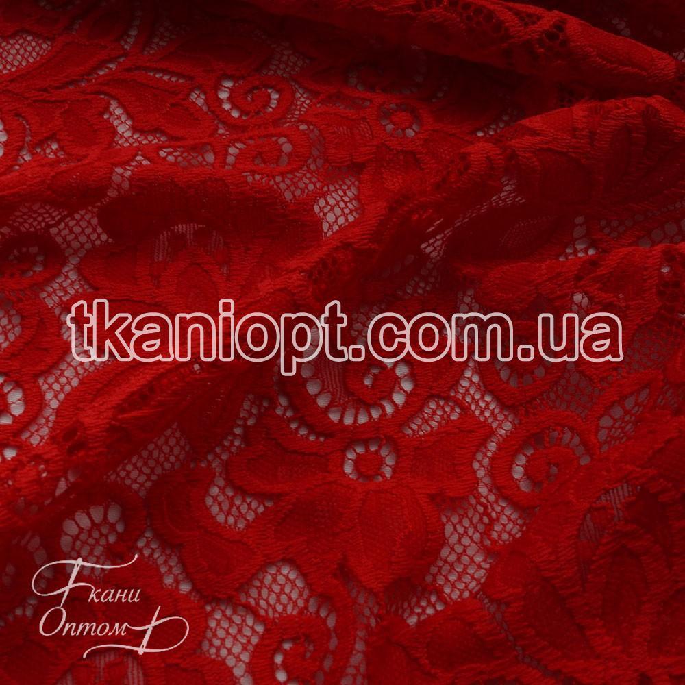 Ткань Гипюр Венеция (красный) представлен в магазине Ткани Оптом a35b48c388d