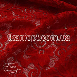 Ткань Гипюр Венеция (красный)