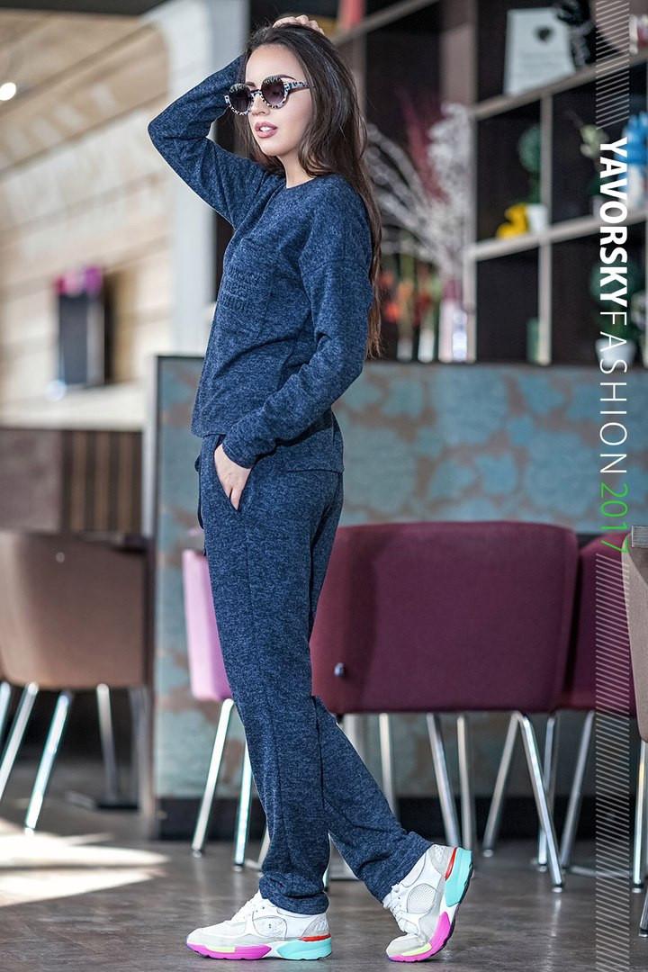 Лёгкий спортивный костюм  цвет синий 44-46
