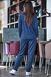 Лёгкий спортивный костюм  цвет синий 44-46, фото 2