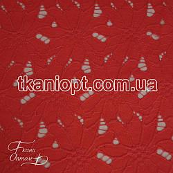 Ткань Гипюр макраме (коралловый)