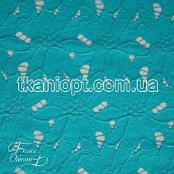 Ткань Гипюр макраме (голубой)