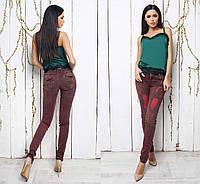 Стильные женские цветные джинсы рванка 083 в расцветках