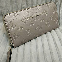 Кошелек Louis Vuitton Луи Виттон серый эко-кожа