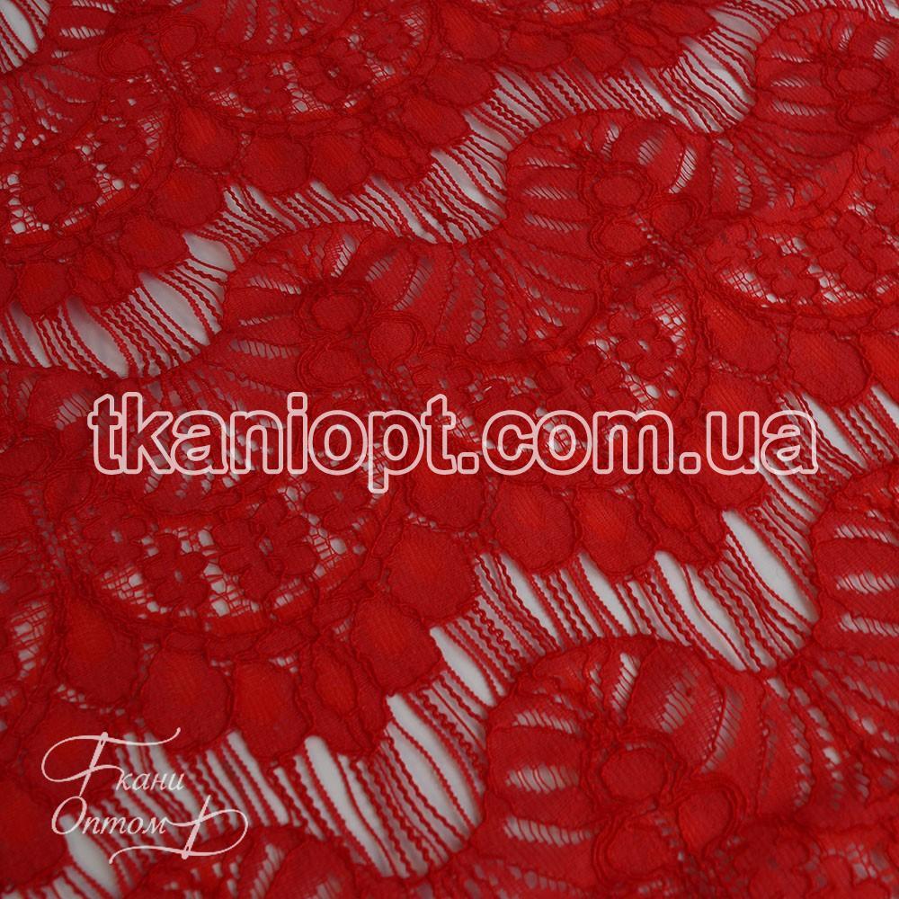 Ткань Гипюр реснички (красный) представлен в магазине Ткани Оптом 8bbe7d851e8