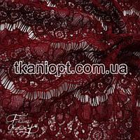 Ткань Гипюр реснички (бордовый)