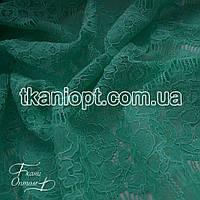 Ткань Гипюр реснички (мята)