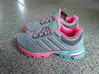 Женские беговые кроссовки Adidas Marathon  Grey Pink, фото 1
