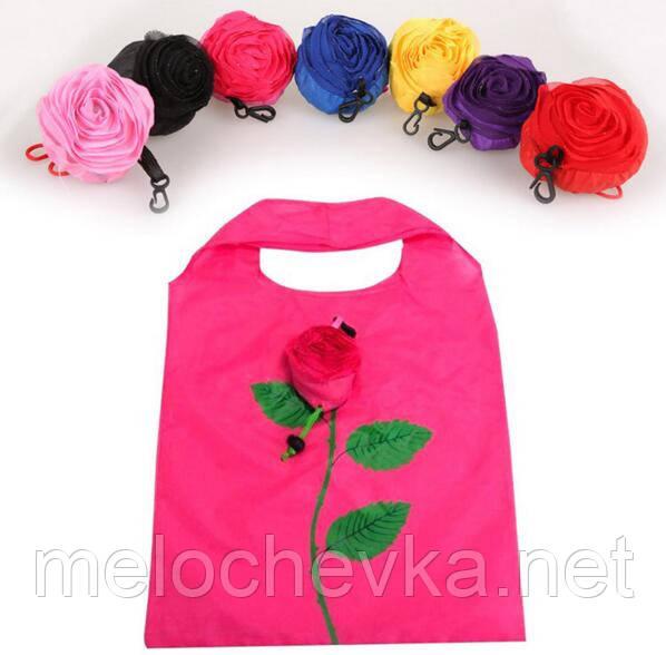 Эко сумка роза