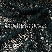 Ткань Гипюр розы (изумруд)
