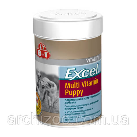 8in1 Excel Multi-Vitamin for Puppies 100 табл. мультивитаминный комплекс для щенков., фото 2