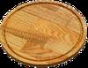 Доска разделочная круглая со сточным желобом 240х20мм дерево Украина ДП240