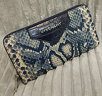 Кошелек Givenchy Живанши под рептилию синий, фото 1