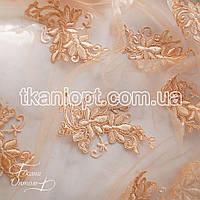Ткань Гипюр франция (персиковый)