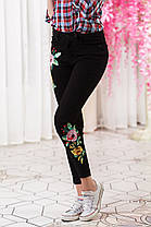 ДТ4604 Стильные джинсы с вышивкой размер 42,44, фото 3