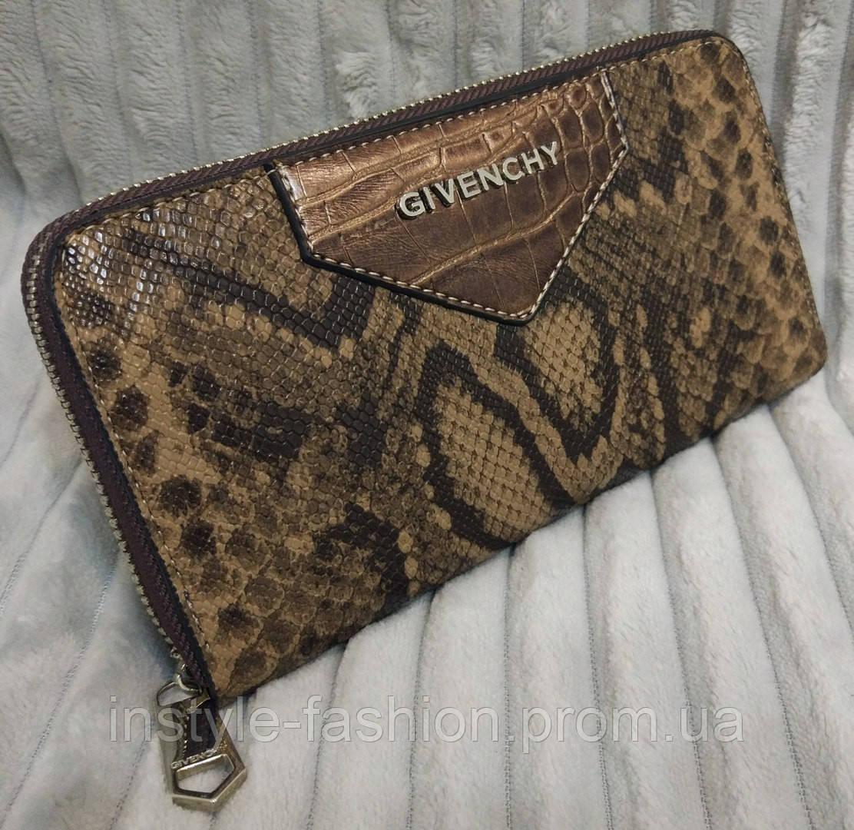Кошелек Givenchy Живанши под рептилию коричневый