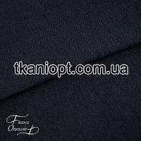 Ткань Джинс на флисе ( синий )