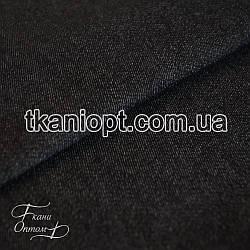 Ткань Джинс на флисе (черный)