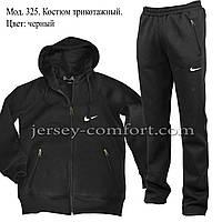 Спортивный костюм мужской, трикотажный.Черный. Мод. 325., фото 1
