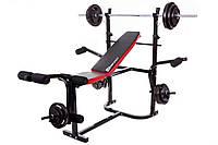Штанга Strong 134,5 кг и гантели со скамьей для дома и спортзала  , Львов