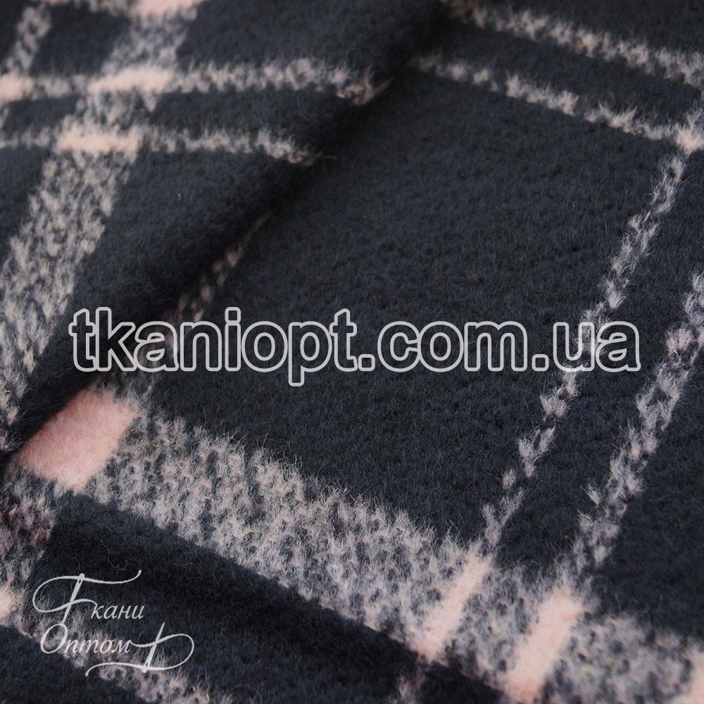 69cda7ee016f9 Ткань Пальтовая ткань клетка шерсть (черно-розовый) - Ткани Оптом в Харькове