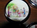 Зеркальце карманное двустороннее Романтик-Арт d-7см, фото 3