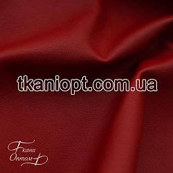 Ткань Кожзам  на ХБ основе (красный)