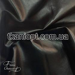 Ткань Кожзам глянцевый (черный)