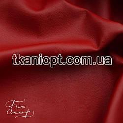 Ткань Кожзам на замшевой основе (красный)