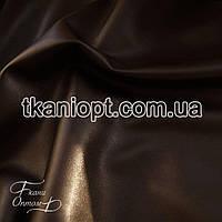 Ткань Кожзам на флисе (коричневый)