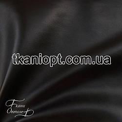 Ткань Кожзам на флисе (черный)