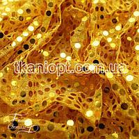 Ткань Копейка (золото на желтом)